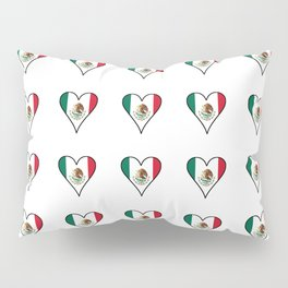 Flag of mexico 4- mexico,mexico city,mexicano,mexicana,latine,peso,spain,Guadalajara,Monterrey Pillow Sham