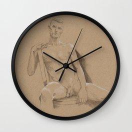 danny sitting Wall Clock