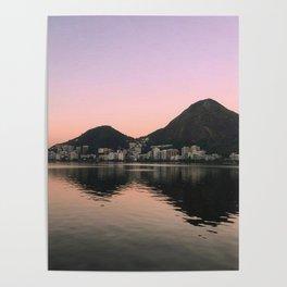 Lagoa Rio sunset Poster