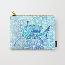Swirly Shark Carry-All Pouch