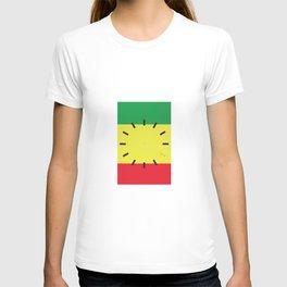 4:20 Clock - Rasta Flag Square T-shirt