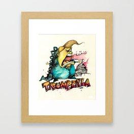Trumpzilla Framed Art Print