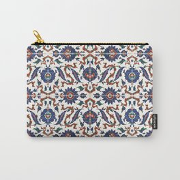 Iznik Pattern Red Blue White Carry-All Pouch