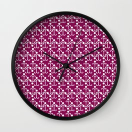 Lattice Pattern (Purple) Wall Clock