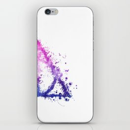 Deathly Hallows galaxy paint drops - Potterhead - elder wand, invisibility cloak, resurrection stone iPhone Skin
