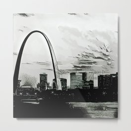St. Louis Noir Metal Print