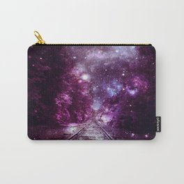 Dream Train Tracks : Next Stop Anywhere purple pink Carry-All Pouch