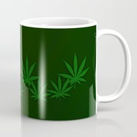 weed Mugs featuring Weed by Leatherwood Design