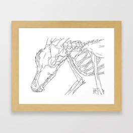 Fox Demon Framed Art Print
