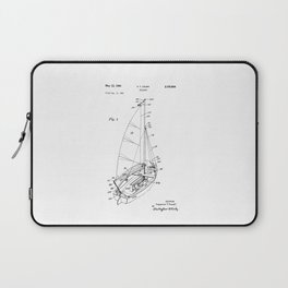 patent art Court Sailboat 1964 Laptop Sleeve