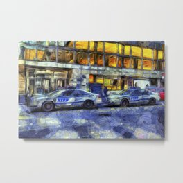 New York police Department Van Gogh Metal Print