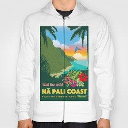Na Pali Coast Travel Poster Hoody