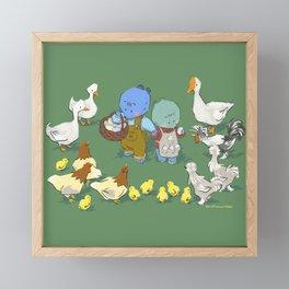 A Situation in the Farm Yard Framed Mini Art Print