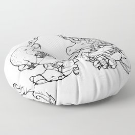 Unicorn of the Sea/Narwhal of the Land Floor Pillow