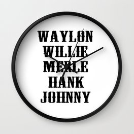 The Original Country Legend Wall Clock