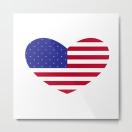Big American Heart Metal Print