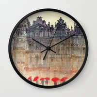 brussels Wall Clocks featuring Brussels by takmaj