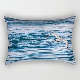 Bird flying across the Niagara river Rectangular Pillow