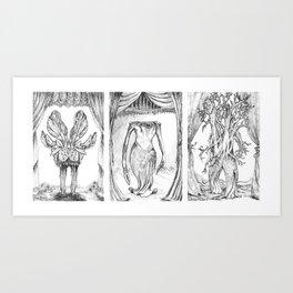 Haunted Clothing-Beetle, Ocean and Tree  Art Print