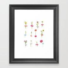 Watercolor Washi Tape Sprigs Framed Art Print