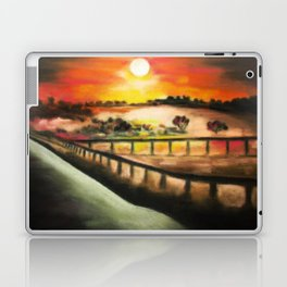 running at dusk 1 Laptop & iPad Skin