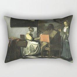 Stolen Art - The Concert by Johannes Vermeer Rectangular Pillow