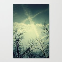 painting through the sky . Canvas Print