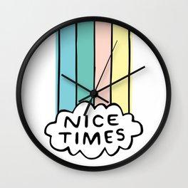 Nice Times Rainbow Wall Clock