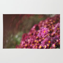 Colorful Pink Flowers Rug