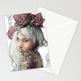 Queen of Flowers Stationery Cards