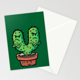 cacti couple crossed Stationery Cards