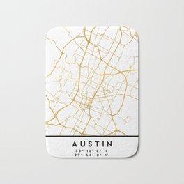AUSTIN TEXAS CITY STREET MAP ART Bath Mat