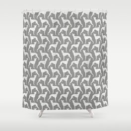 Whippet Silhouette(s) Shower Curtain