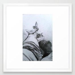 Nys & Fergus Framed Art Print