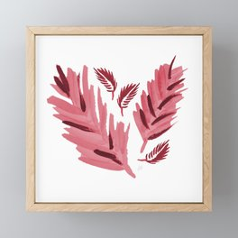 Eagle Feathers Red Framed Mini Art Print