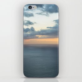 Dramatic sky and beautiful sunset over Atlantic ocean in Madeira island, Portugal. iPhone Skin