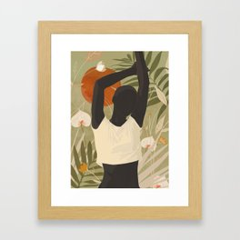 Tropical Girl 3 Framed Art Print