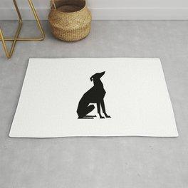 Italian Greyhound Silhouette Rug