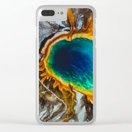 Grand Prismatic Spring, Yellowstone Clear iPhone Case