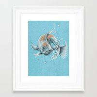 koi fish Framed Art Prints featuring Koi Fish by Daydreamer
