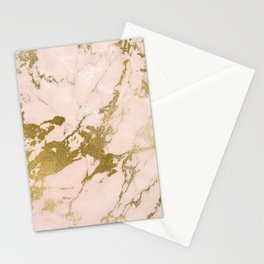 Champagne Blush Marble Stationery Cards
