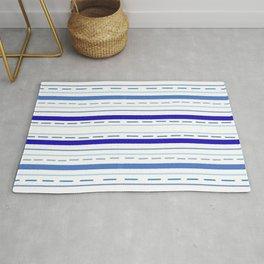 Pajama Blue Stripes Rug