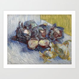 Red Cabbages and Onions, Vincent van Gogh Art Print