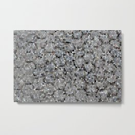 Grey Mosaic pattern Metal Print
