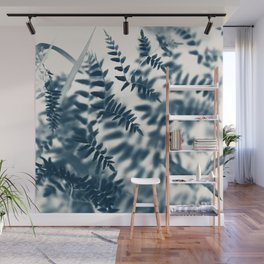 Royal Palm In Blue #2 Wall Mural