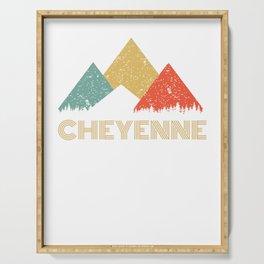 Retro City of Cheyenne Mountain Shirt Serving Tray