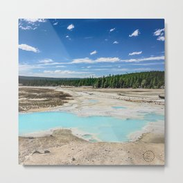 Teal Pools, Norris Geyser Basin, Yellowstone National Park Metal Print