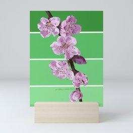 Cherry Blossoms on Greens Mini Art Print