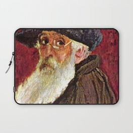 Camille Pissarro - Self-Portrait with Beret and Spectacles Laptop Sleeve