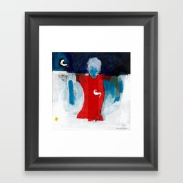 woman in the wind Framed Art Print